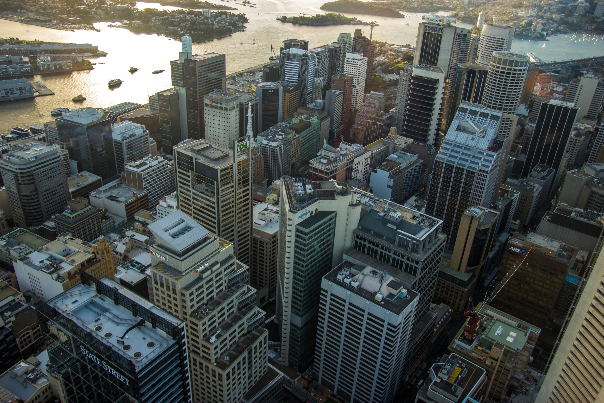 Top view of Wynyard Sydney
