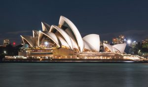 Sydney Opera House has a one of a kind architectural design.
